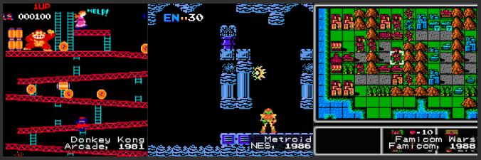 DK, Metroid, and Famicom Wars